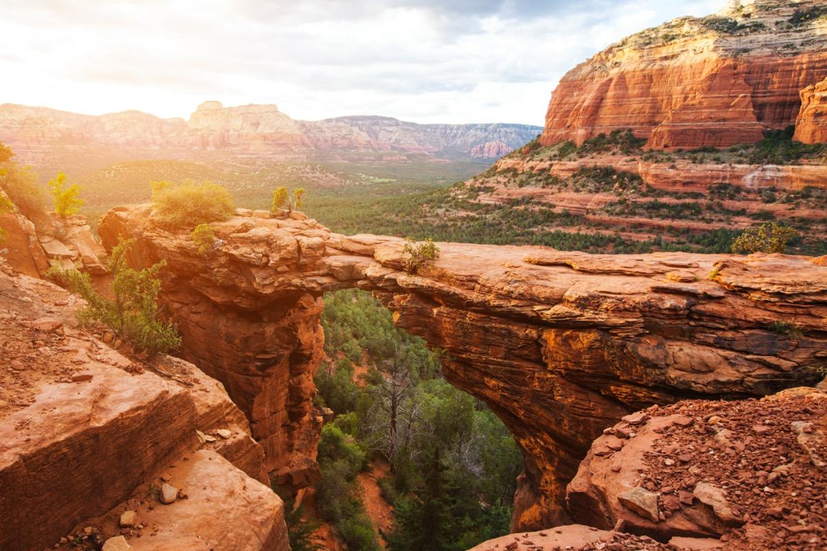 Devil's Bridge Trail scenic view panoramic landscape Sedona Arizona