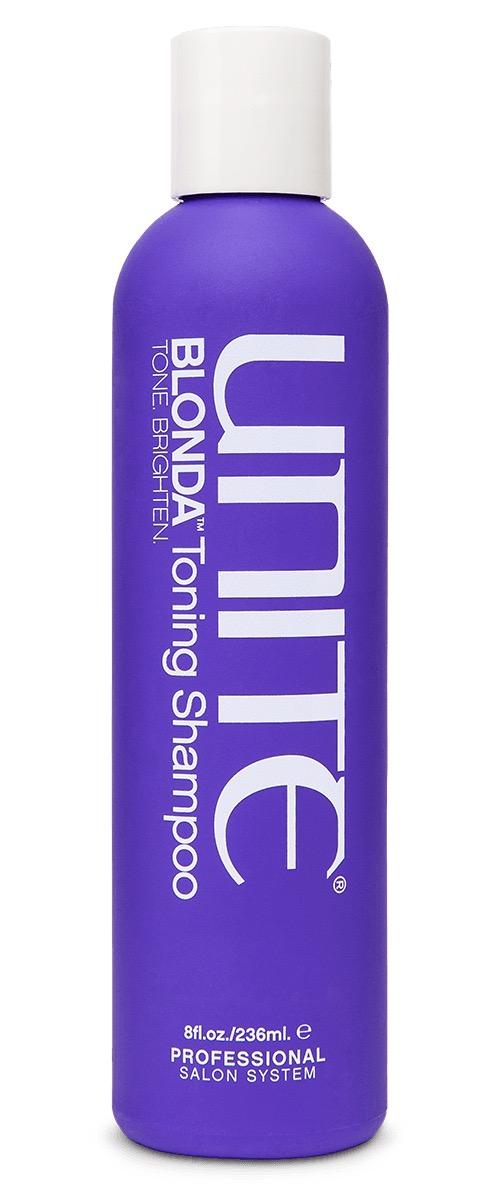 bottle of purple shampoo