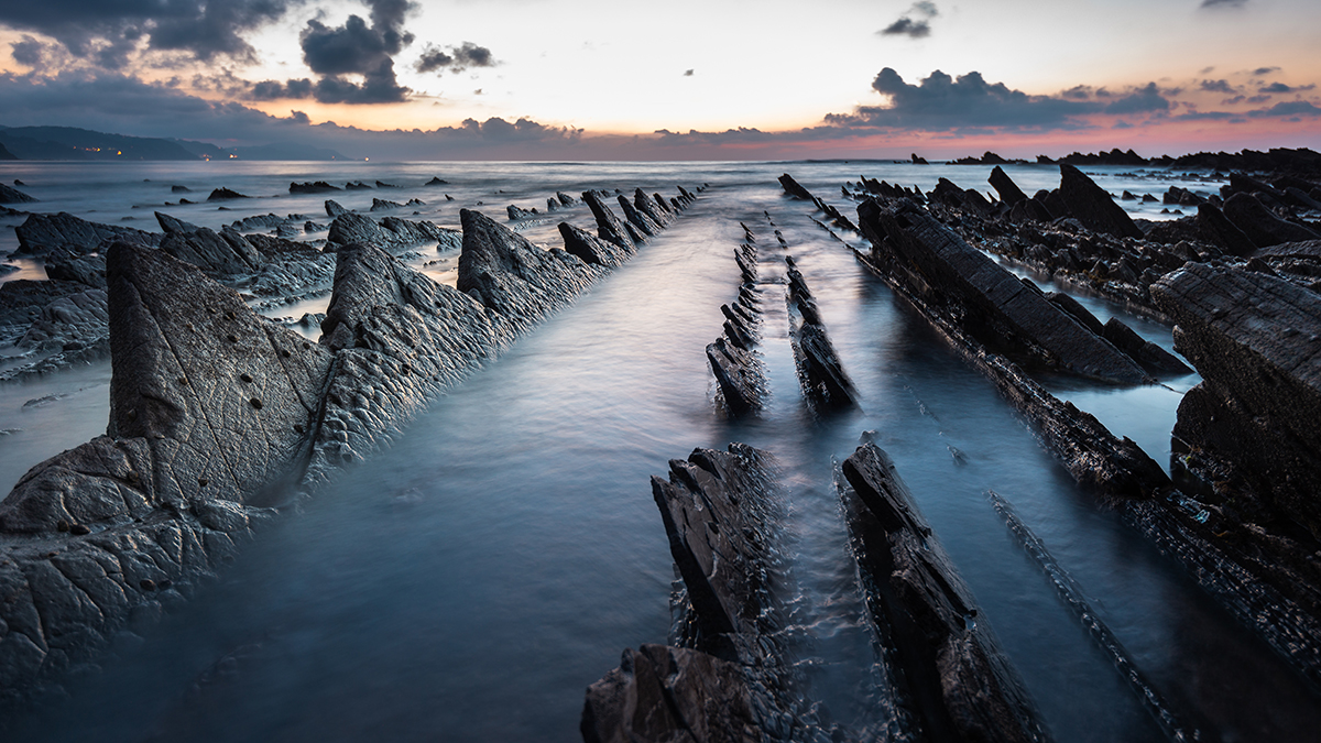 eroded rocks on a beach formed gorgeous formations