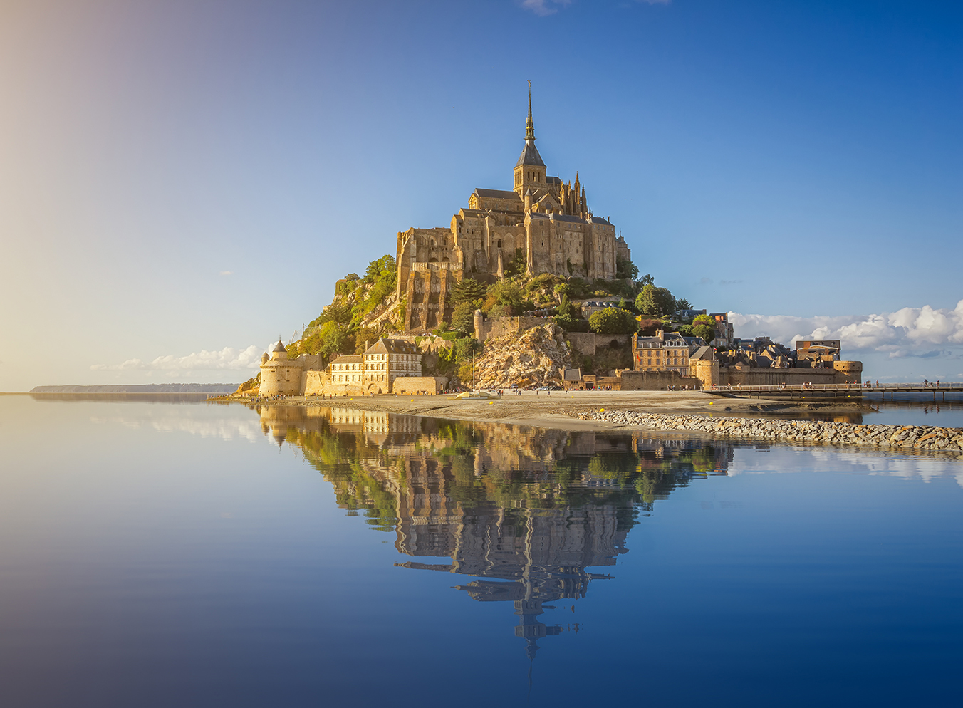 medieval abbey on an island in France
