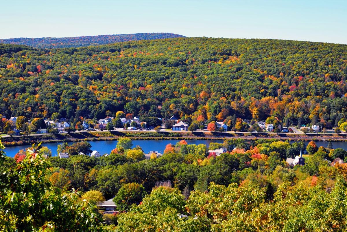 Autumn landscape in Connecticut River Valley