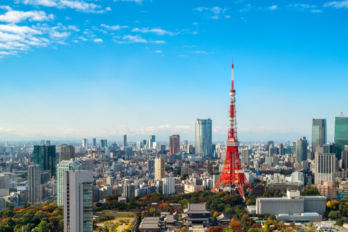 skyline view of Tokyo
