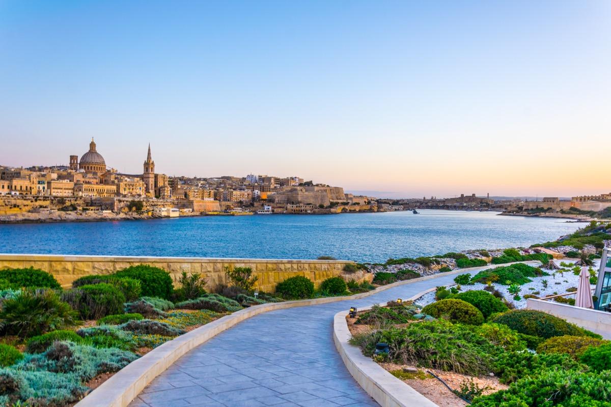skyline of Valleta, Malta
