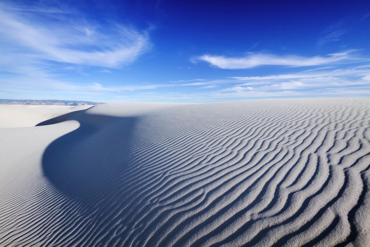 sand dunes White Sands National Monument