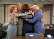 the cast of the mary tyler moore show hugging in the final episode