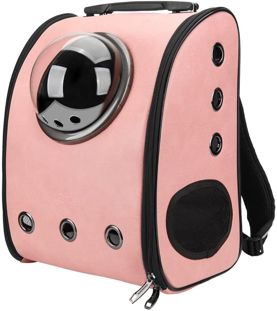 Pink cat backpack with sphere window, Amazon pet gifts