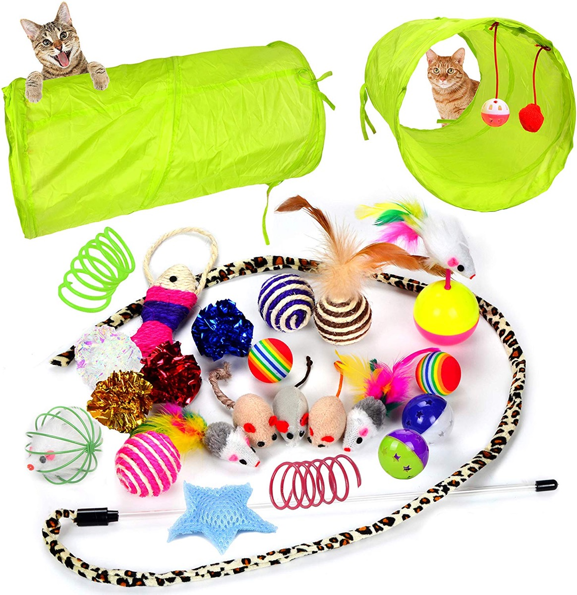 Cat toy collection with tunnel, Amazon pet gifts