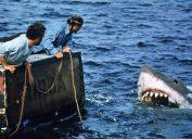Richard Dreyfuss and Robert Shaw in Jaws