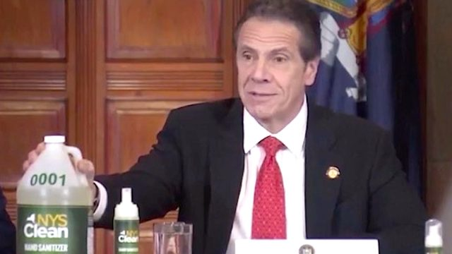 andrew cuomo announces new york state hand sanitizer made by inmates at coronavirus press conference