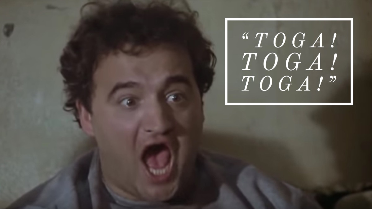 Animal house toga quote