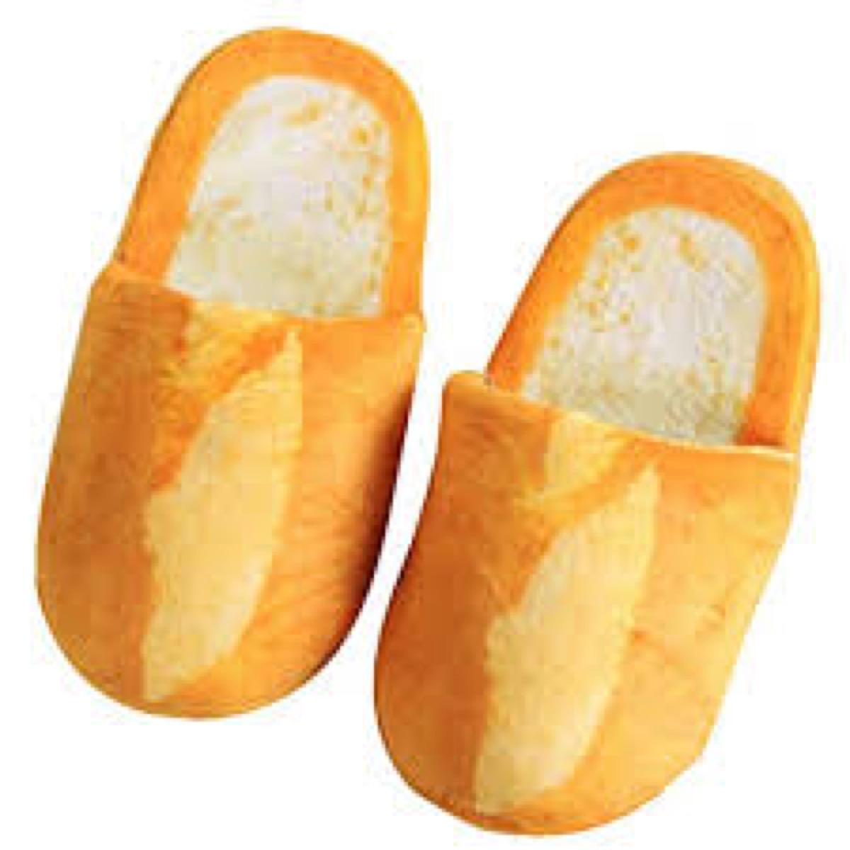 baguette slippers gag gift