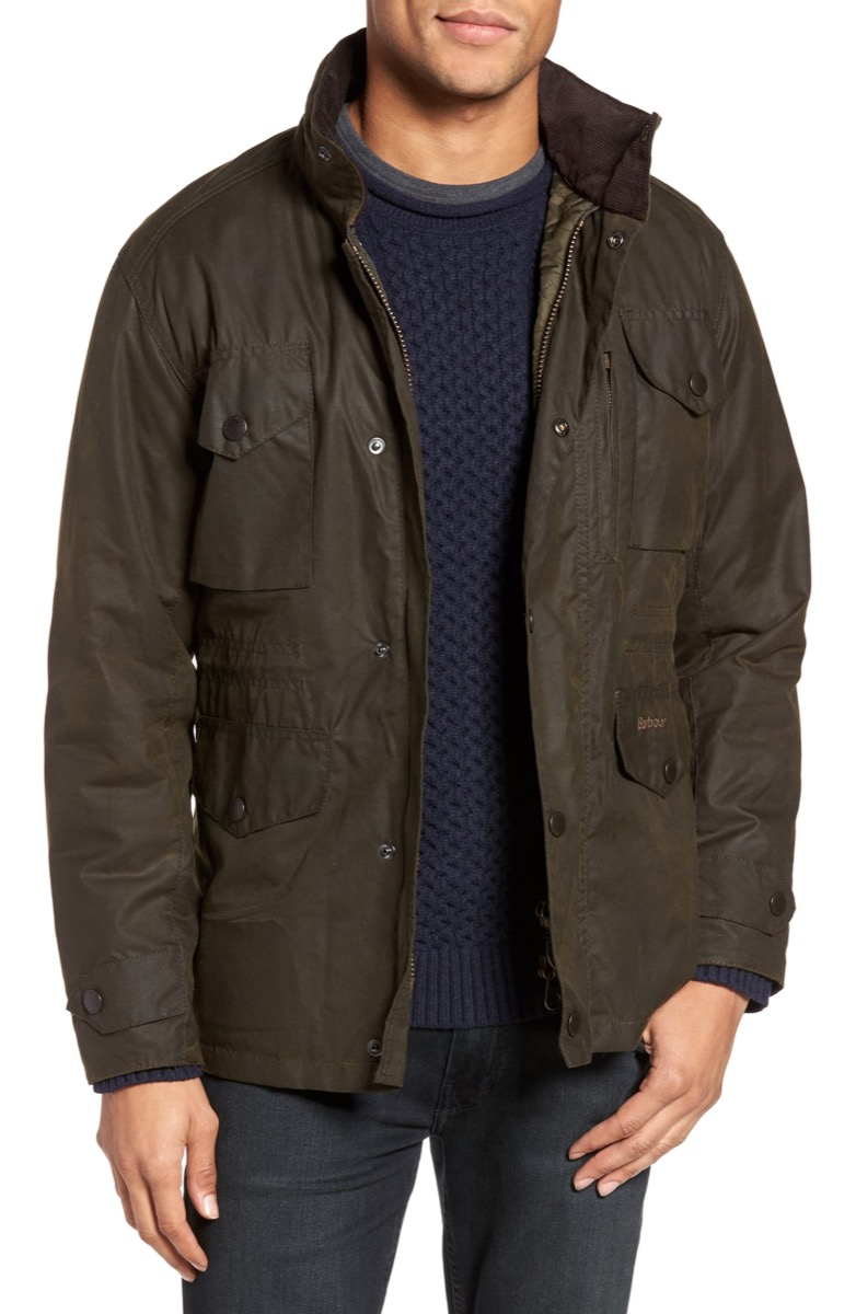 green barbour jacket