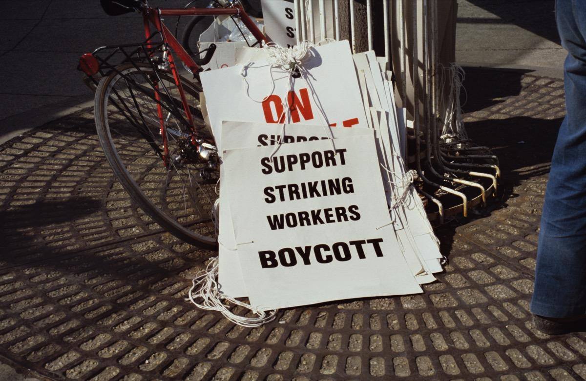 boycott strike signs
