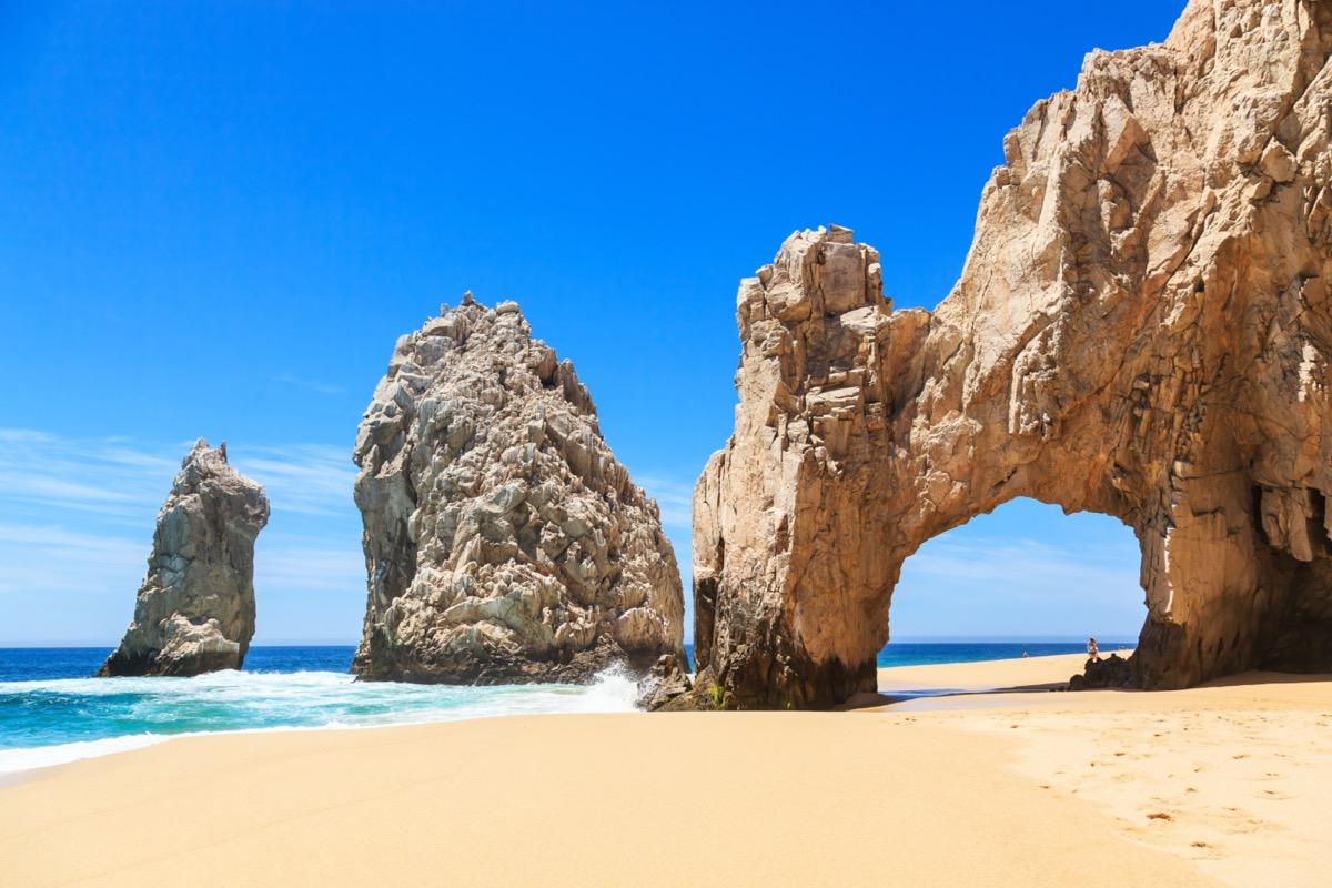 rock arch on a beach in cabo san lucas
