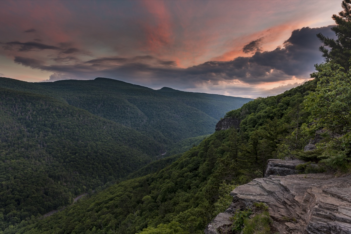Catskills mountains in New York