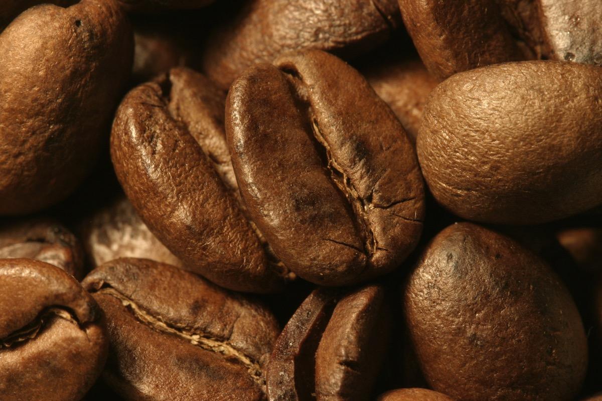unground coffee bean up close