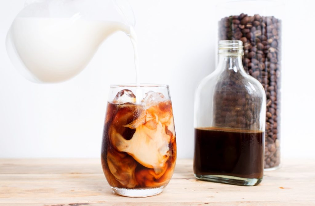 Cold brew coffee with cream