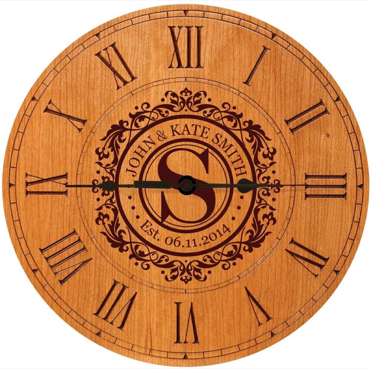 Customized clock anniversary gift