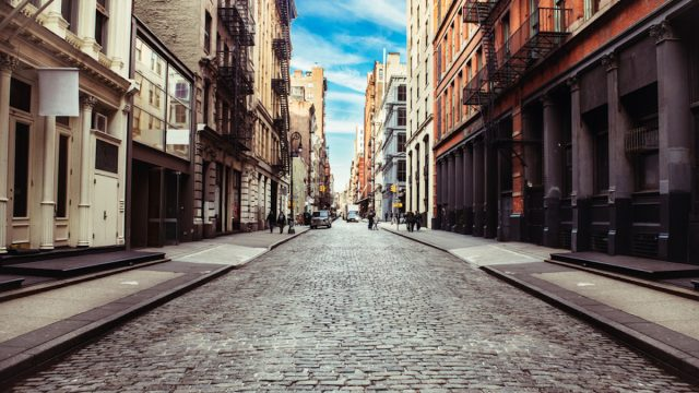 empty new york city street