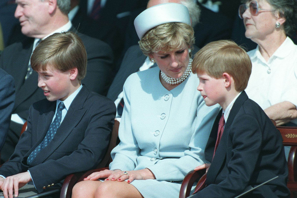 Prince Harry, Princess Diana, and Prince Harry in 1996
