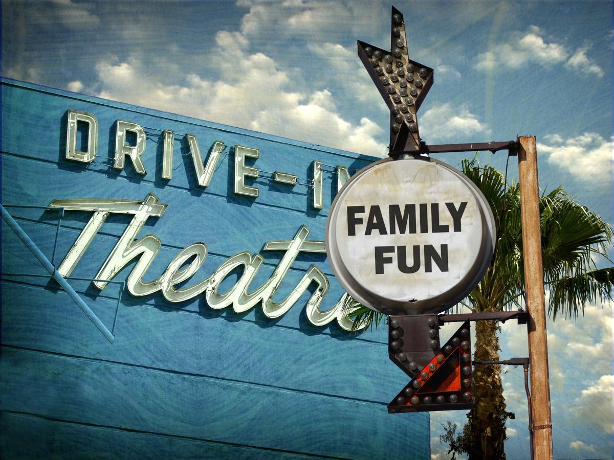 Drive in movie theatre show