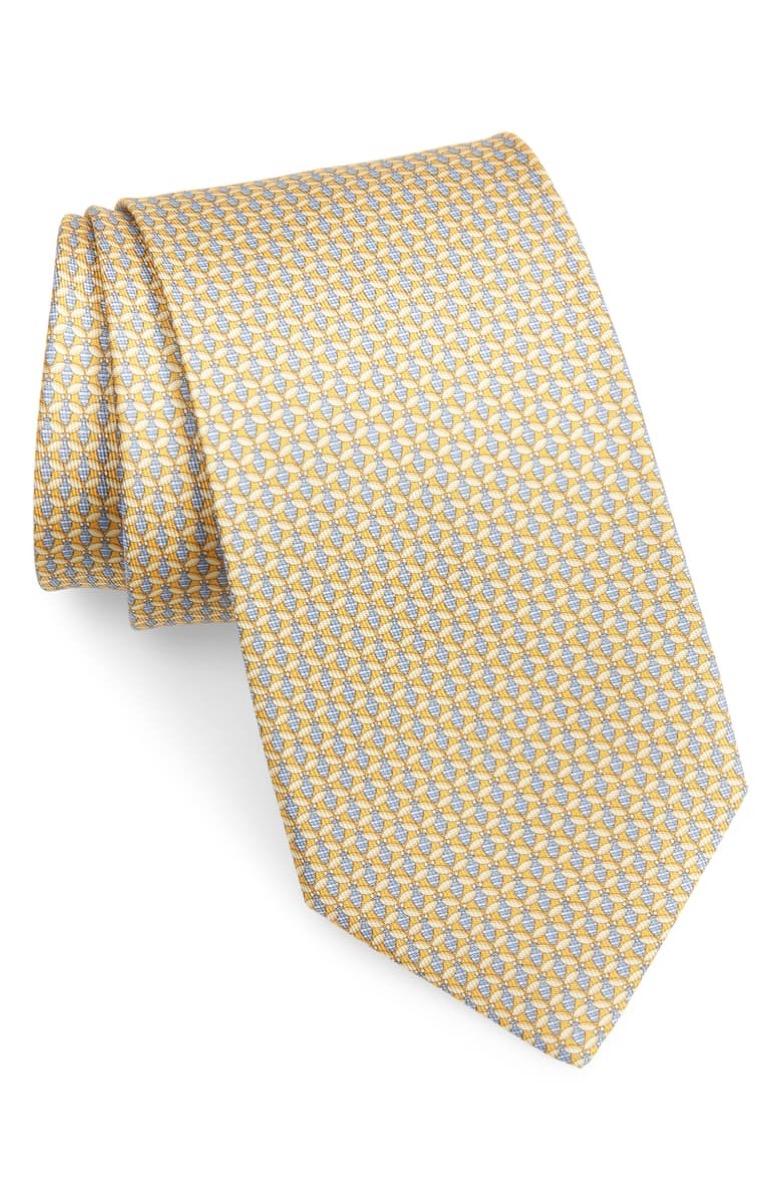 yellow ferragamo neck tie