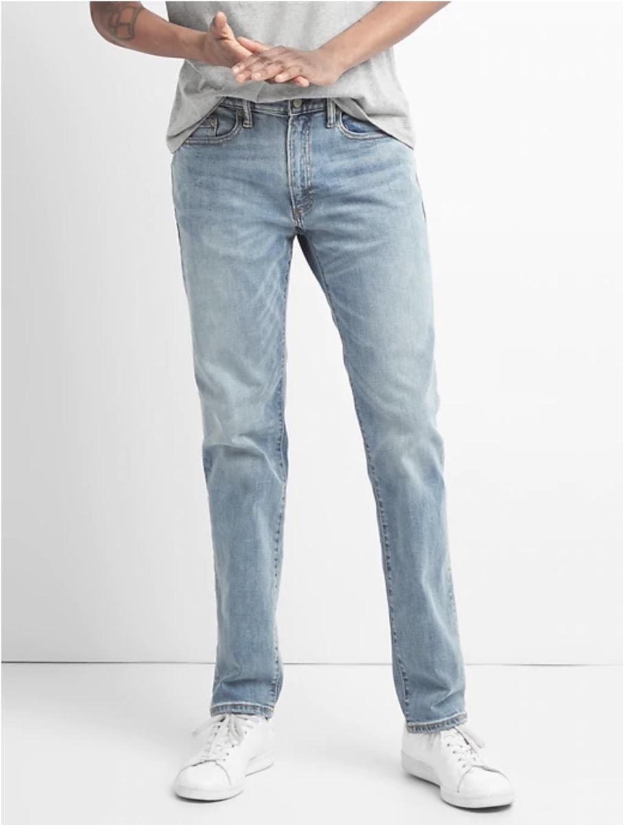 man in light jeans