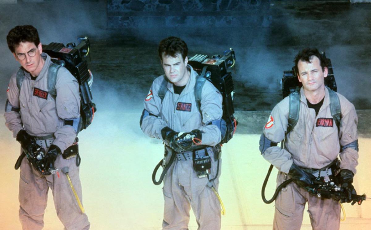 Harold Ramis, Dan Akroyd, and Bill Murray in Ghostbusters