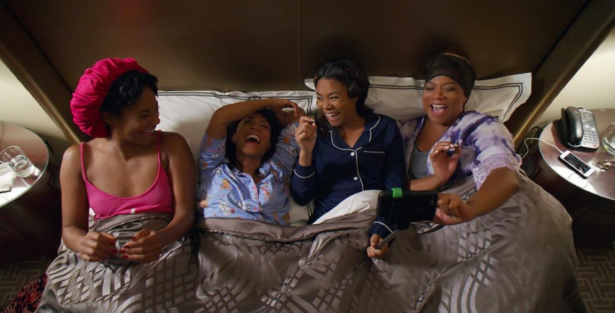 Tiffany Haddish, Jada Pinkett Smith, Regina Hall, and Queen Latifah in Girls Trip