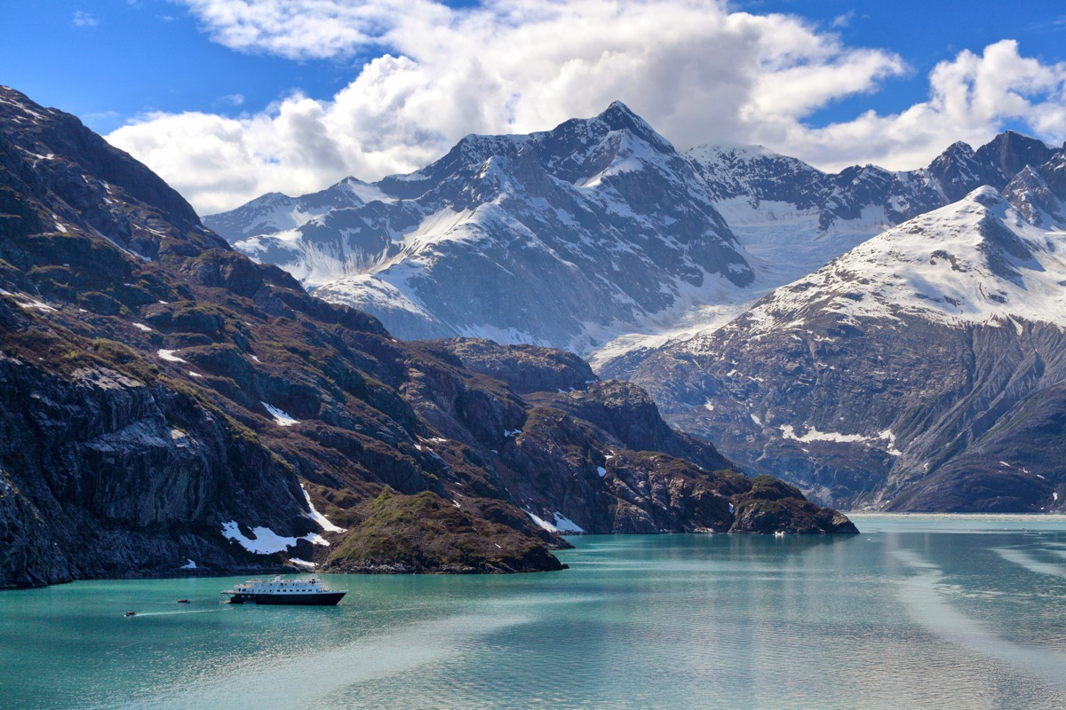 Photo of scenic and wildlife viewing tour in Glacier Bay, Alaska.