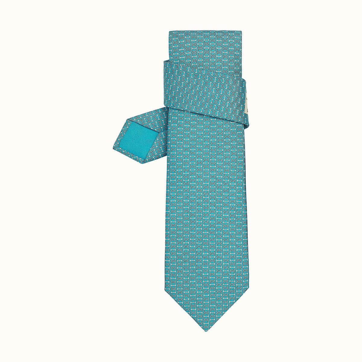 blue hermes tie