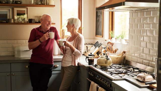 senior couple spending quality time together at home
