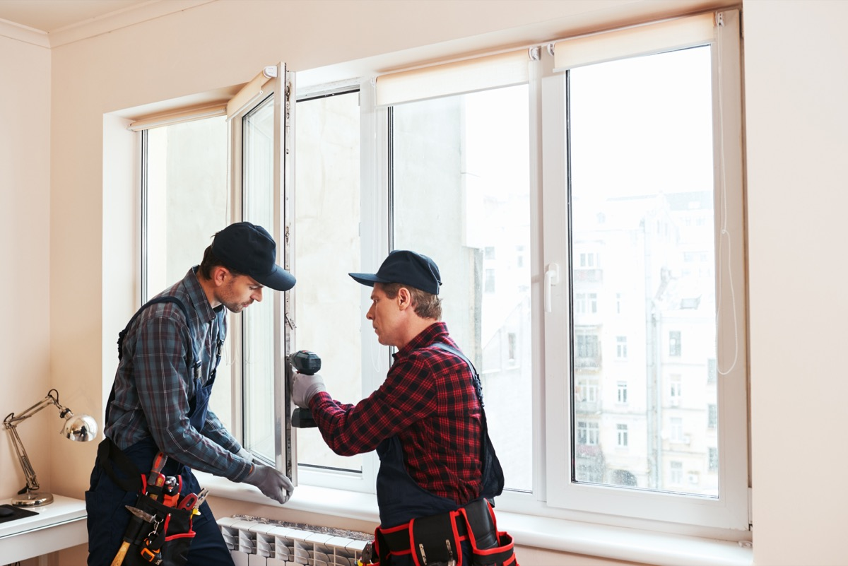installing new windows in a home