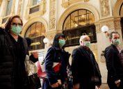 italians wear face masks amid coronavirus outbreak