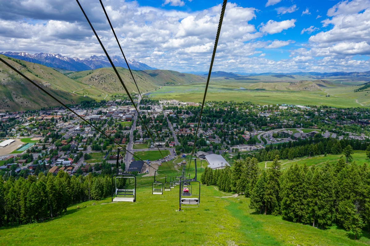 Jackson Hole, Wyoming in the summer