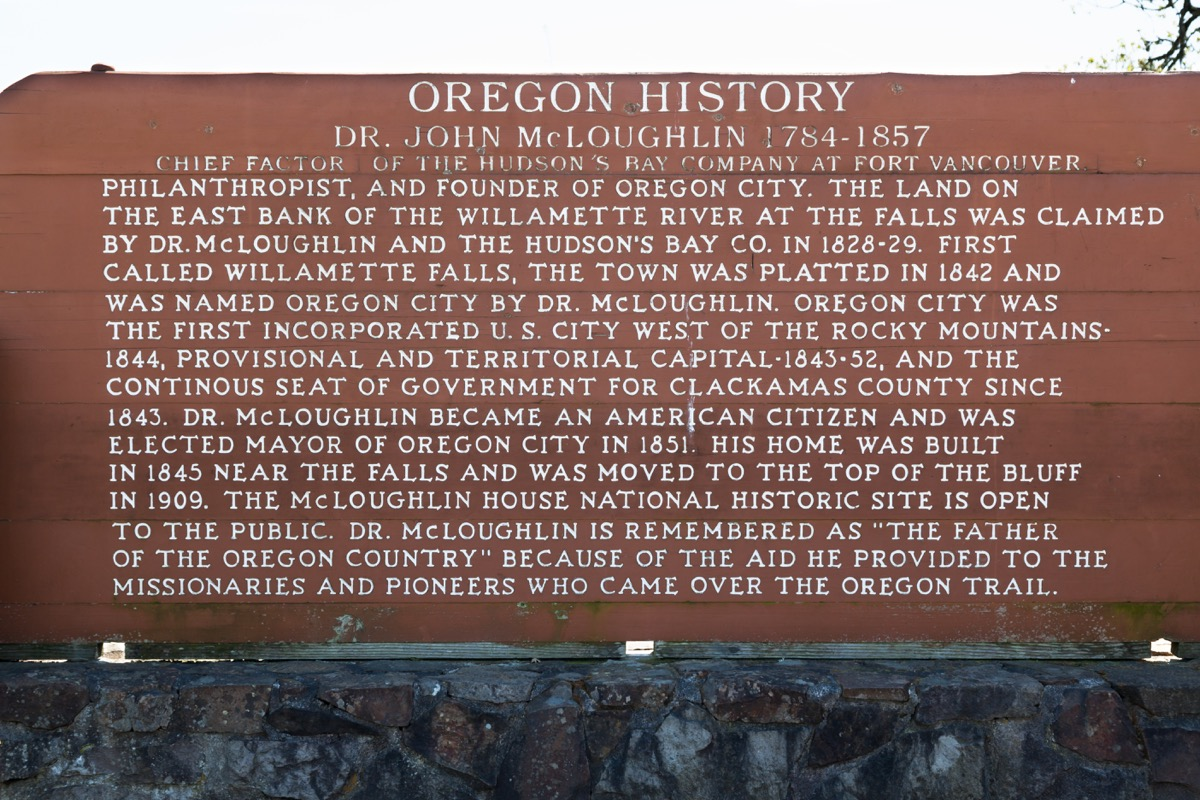 John McLoughlin plague in Oregon