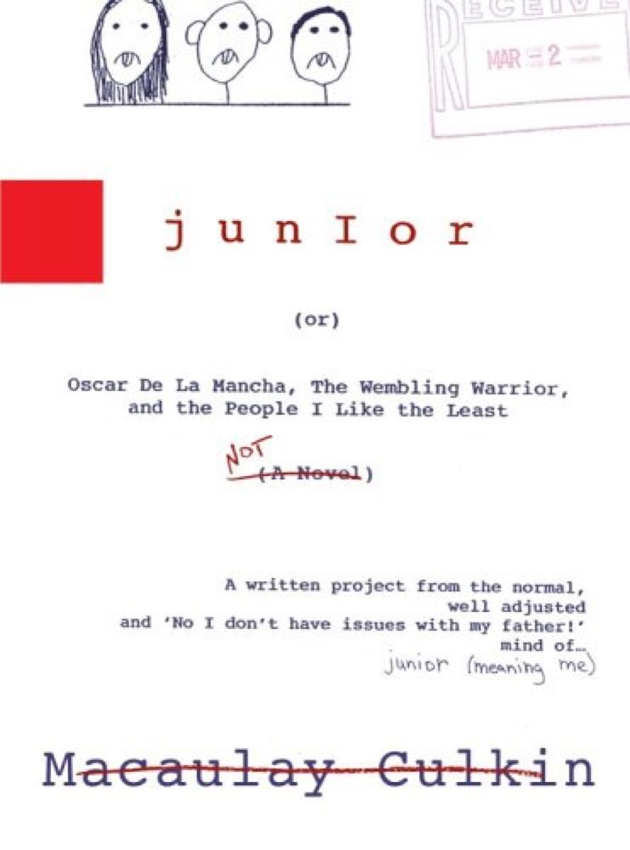 junior macaulay culkin book cover