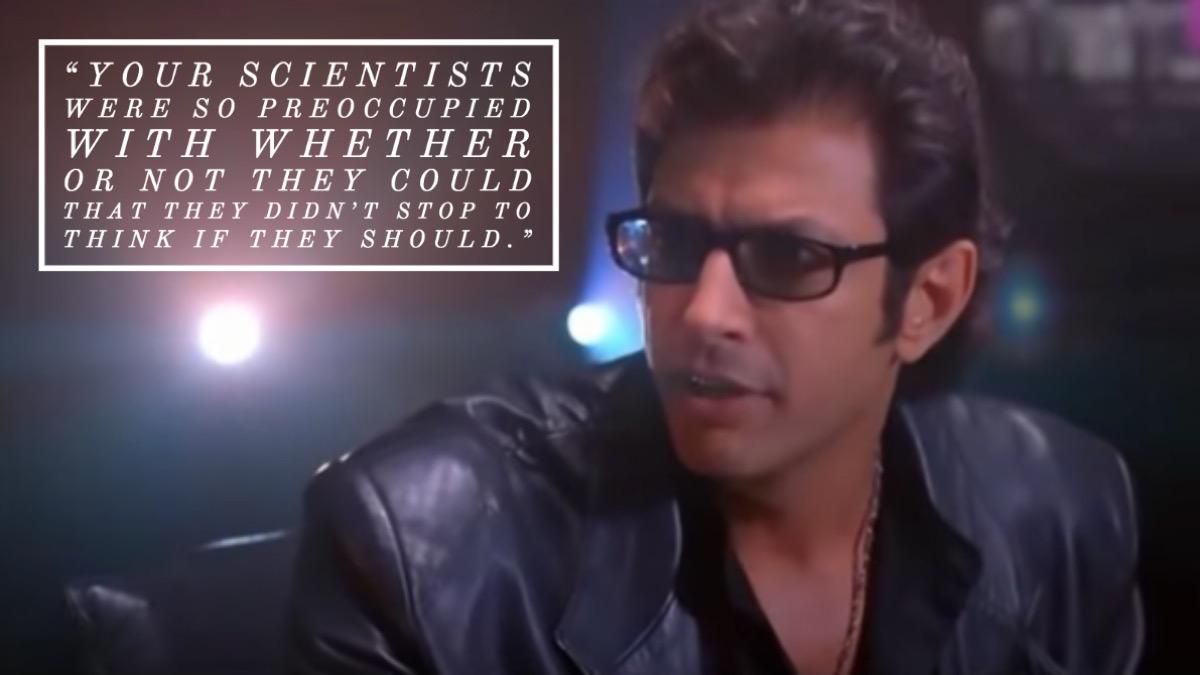 Jurassic Park movie quote