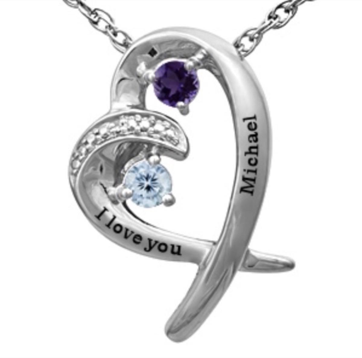 Kay Jeweler birthstone couple necklace