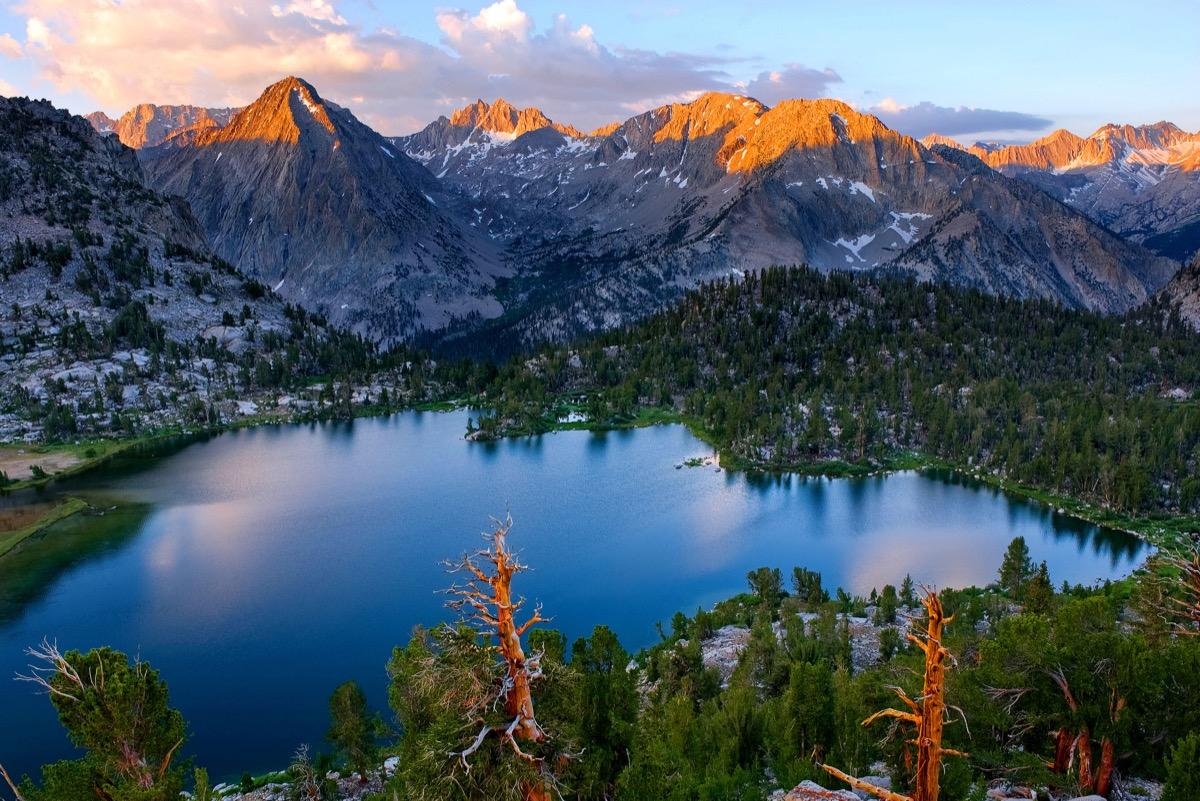 Kings Canyon, Kings Canyon National Park, High Sierra, Sunset, Mountain Peaks in Sunshine