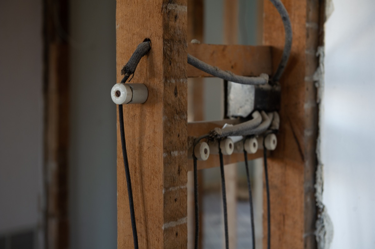 knob and tube wiring in older home