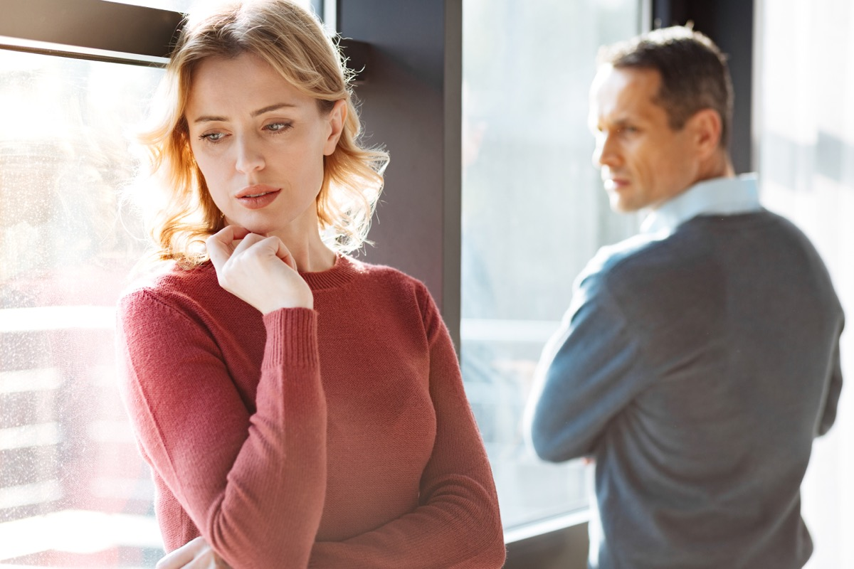 Man looking at woman intensely