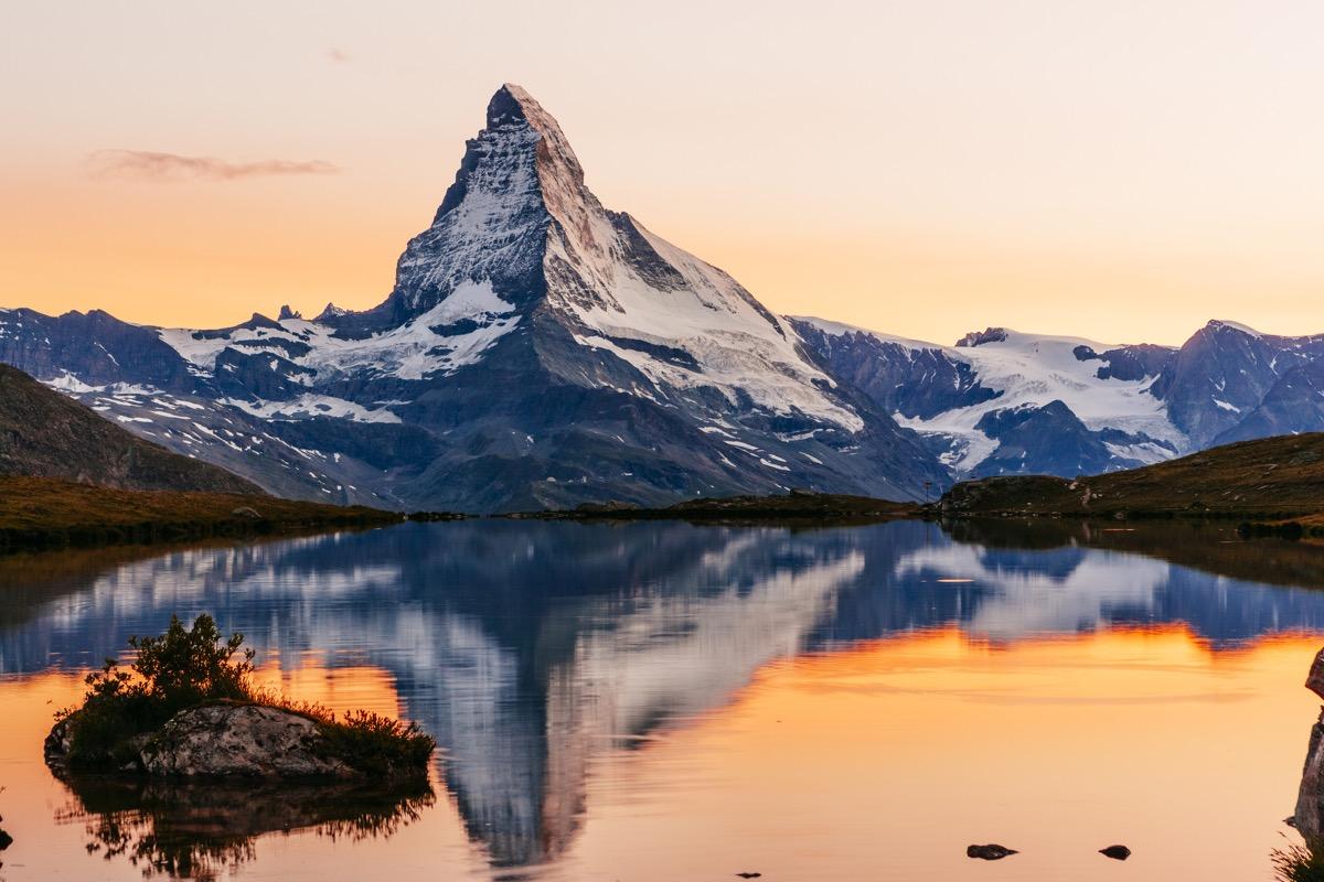 The Matterhorn at sunset.