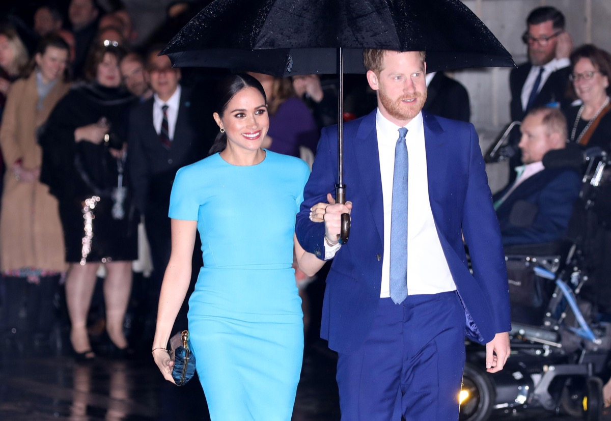 Prince Harry, Duke of Sussex, and Meghan Markle, Duchess of Sussex, attend the annual Endeavour Fund Awards in 2020