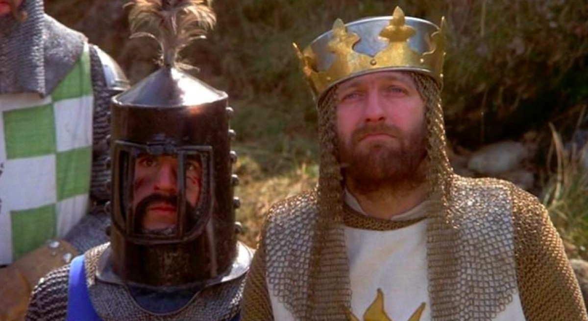 Terry Jones and Graham Chapman in Monty Python and the Holy Grail