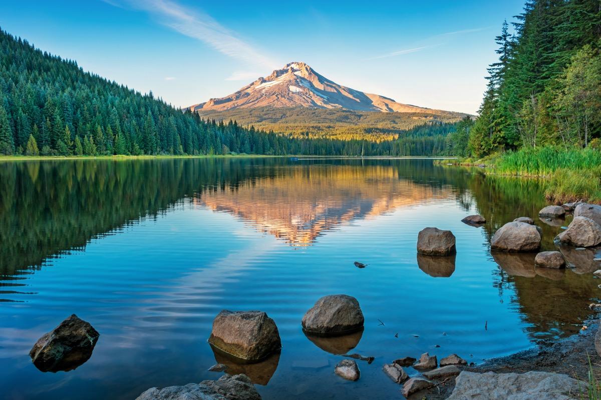 Trillium Lake and Mount Hood Oregon USA