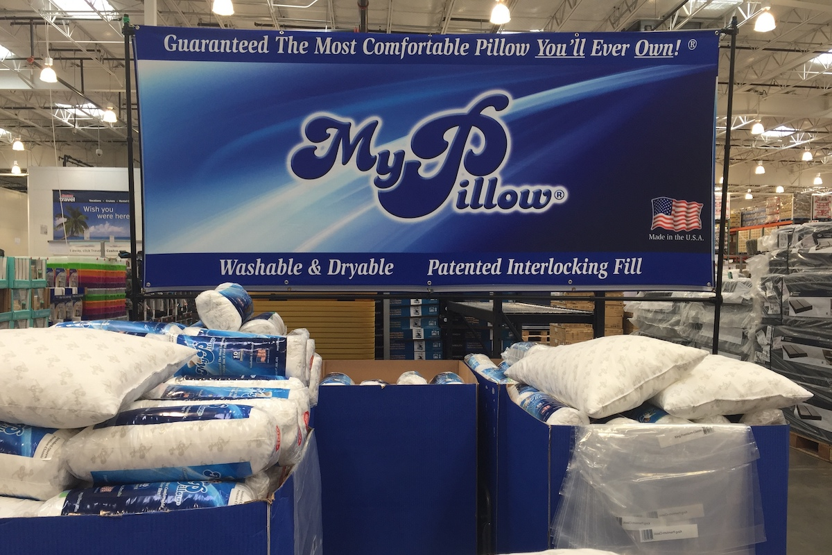 My Pillow, a Twin Cities based company, has a display of pillows at a Costco Warehouse store