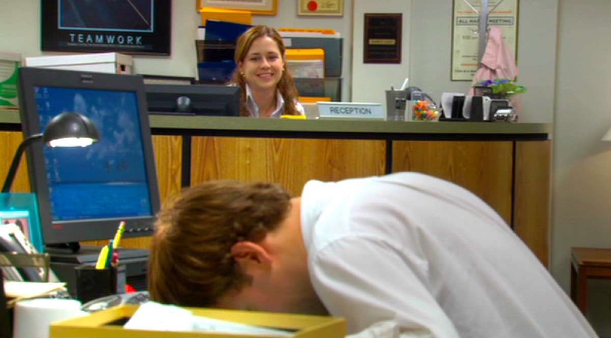Jim and Pam in The Office scene