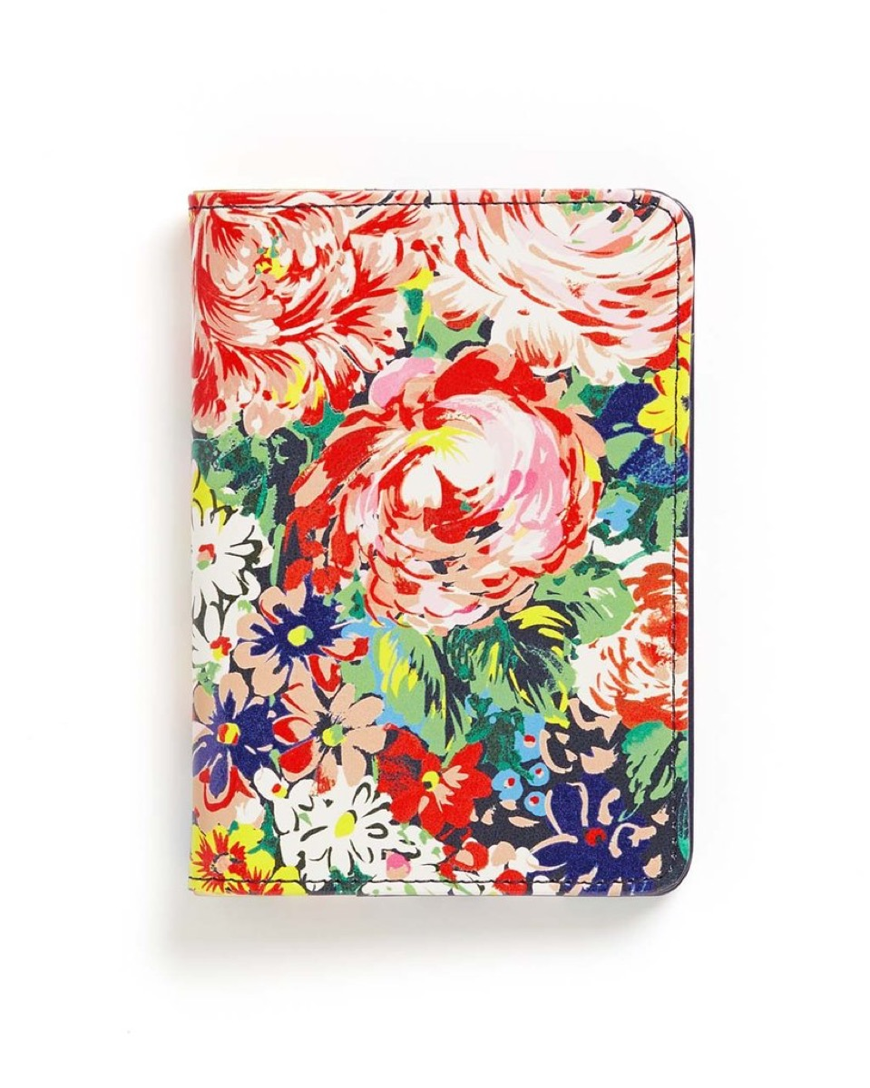 floral passport cover