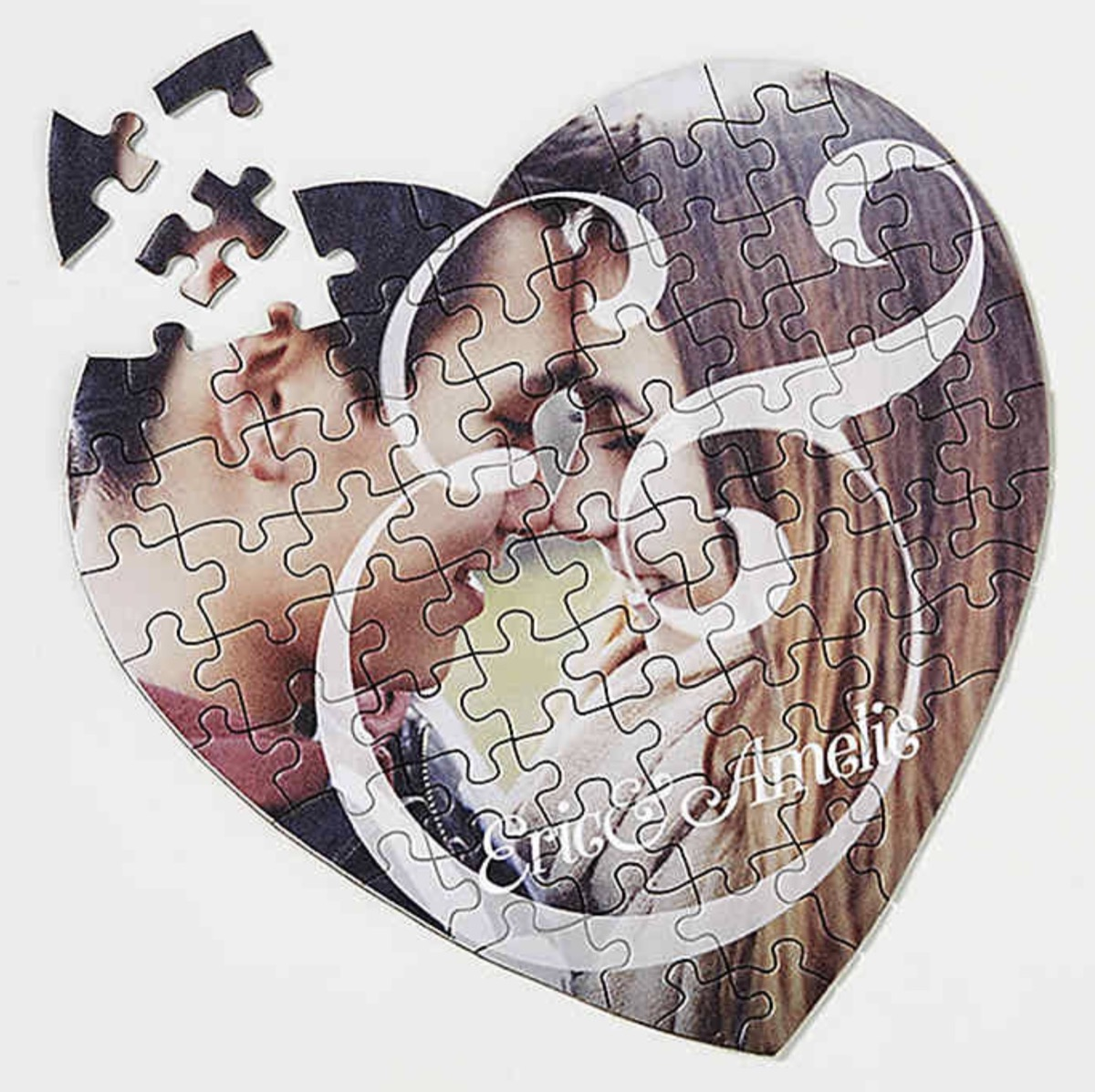 Personalized puzzle of a couple